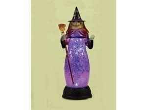 "12"" Battery Operated Blue LED Lighted Wicked Witch Halloween Table Top Figure"