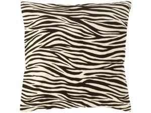 "18"" Black and White Hot Animal Print Decorative Down Throw Pillow"