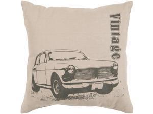 "22"" Wenge and Khaki ""Vintage"" Chevrolet Decorative Down Throw Pillow"
