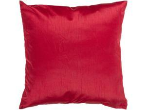 """18"""" Shiny Solid Bright Venetian Red Decorative Throw Pillow"""