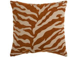 """22"""" Rust and Beige Hot Animal Print Decorative Throw Pillow"""