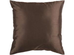 """18"""" Shiny Solid Chocolate Brown Decorative Throw Pillow"""