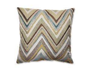 """16.5"""" Strisce Chevron Multicolor Striped Decorative Square Throw Pillow"""