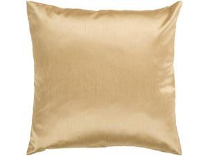 "18"" Shiny Solid Golden Yellow Decorative Throw Pillow"