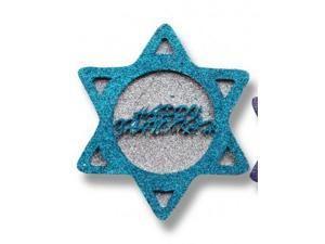 """8"""" Glitter Embellished Blue and Silver """"Happy Hanukkah"""" Hanging Holiday Decoration"""