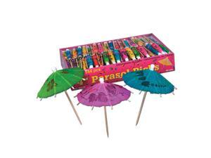 Club Pack of 3,456 Tropical Multi-Colored Parasol Food, Drink or Decoration Party Picks 4""
