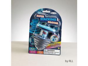 "4.5"" Blue Super Stacking Chanukah Hanukkah Spinning Draydel Toy"