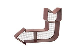 "30.5"" Retro-Style Red Curved Arrow 3-Dimensional Wall Shelf"