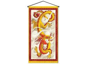"Pack of 12 Metallic Chinese Dragon New Year Door & Wall Panel Decoration 60"" x 30"""