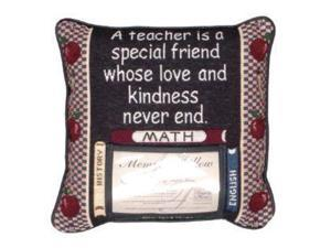 "12"" Special Teacher Decorative Photo Memory Accent Throw Pillow"