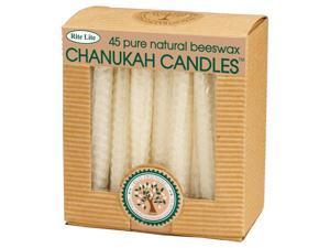 """45ct Eco-Friendly Natural Beeswax Chanukah Hanukkah Menorah Candles 4"""""""