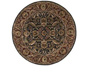 8' Majesty Bronze, Raw Umber, Mossy Gold and Mocha Round Wool Area Throw Rug