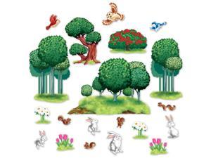 Club Pack of 244 Rabbits, Birds and  Nature Wall Decoration 49""