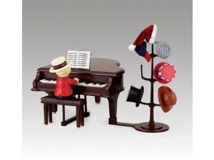 Mr. Christmas Animated Teddy Takes Requests Baby Grand Piano Musical Decoration