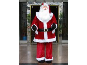 Huge 6 Foot Life-Size Decorative Plush Santa Claus - Sitting or Standing
