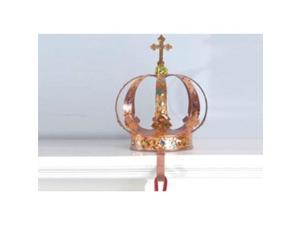 "9.5"" Copper and Gold Royal Crown Christmas Stocking Holder"
