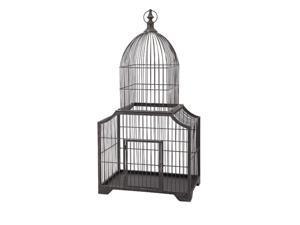 "41"" Hakidonmuya Basic Black Dome Shaped Wire Song Bird Cage Decoration"