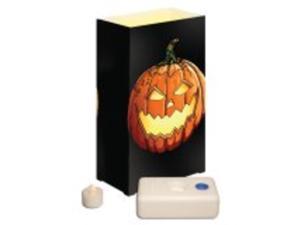 12 Battery Operated LED Flameless Tea Candles Jack O'Lantern Luminaria Kit