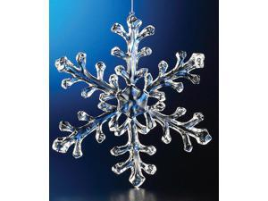 Club Pack of 12 Icy Crystal Decorative Large Christmas Snowflake Ornaments 9.5""