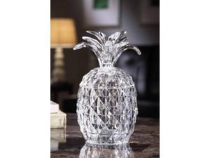 Pack of 2 Icy Crystal Illuminated Decorative Pineapple Candy Jar 9""