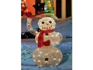 "46"" Silver Seqhined Lighted Animated Snowman with Top Hat Outdoor Christmas Yard Art Decoration"