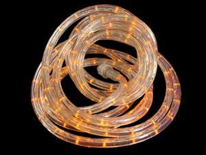 18' LED Sunrise Orange Christmas Rope Lights