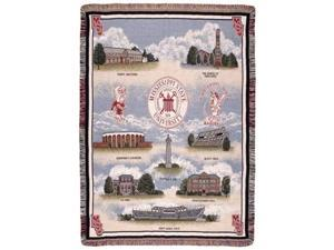 "Mississippi State University Bulldogs Tapestry Throw Blanket 50"" x 70"""