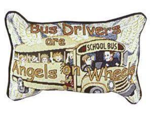 "Bus Drivers Angels Decorative Throw Pillow 9"" x 12"""