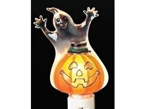 "5.5"" Smiling Ghost and Jack O' Lantern Halloween Night Light"
