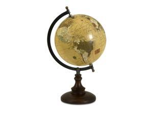 "15"" Revolving Windsor Globe with Chocolate Brown Base"