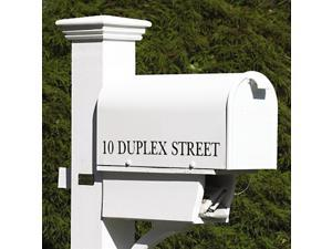 "21"" Handcrafted White Outdoor Yard and Patio Mailbox"