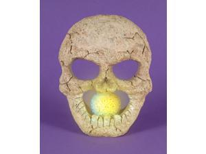 "8.5"" LED Lighted Color Changing Flickering Eerie Skull Halloween Decoration"