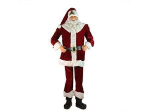 Huge 6 Foot Life-Size Decorative Plush Christmas Santa Claus Figure - Sitting or Standing
