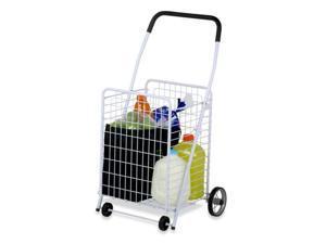 16.75 x 21.25 x 36.87 White Four Wheel Utility Cart