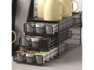 Black Coffee Pod Drawer - Holds 54 Pods