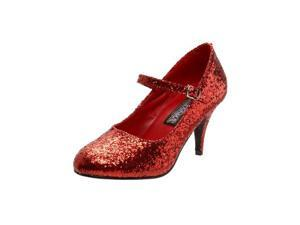 Sexy Dorothy Red Glitter Adult Mary Jane Shoes Size:8