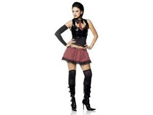 Goth School Girl Adult Costume Large