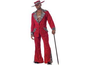 Adult Red Pimp Costume California Costumes 839