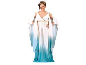Sexy Plus Size Blue Greek Roman Grecian Goddess Halloween Toga Dress Costume