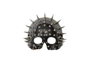 Spiked Cranium Half Skull Mask