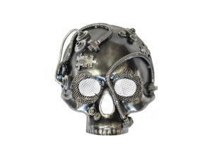 Steampunk Robot Skull Mask (Silver)