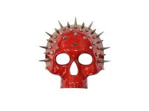 Spiked Crimson Skull Mask
