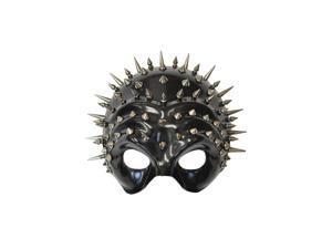 Spiked Ridges Half Skull Mask
