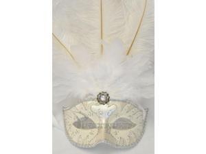 Colombina Swan Princess Feather Mask (White)