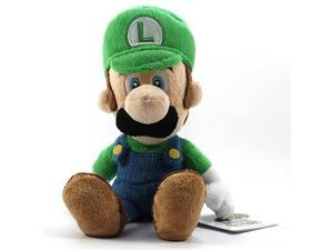 Super Mario Plush Luigi Soft Stuffed Plush Toy by Sanei - 8""