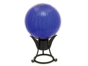 Blue Crackle Gazing Globe (10 in.)
