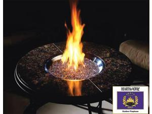 Marble Hearth Table w Gas Firepit