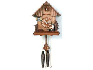 "9"" Cuckoo Clock with Beer Drinker Raising Mug"
