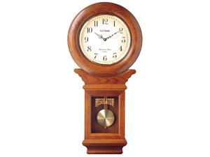 Regulator Wall Clock Chimer and Pendulum with Oak