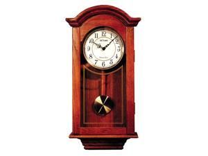 Cherry Regulator Wall Clock with Pendulum and Chimes
